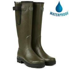 Le Chameau Womens Ladies Green Vierzon Jersey Wellies Wellington Boots Size 4-7