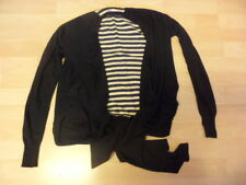 Ted Baker Noir Soie/Angora Cardigan Taille 0-Uk Taille 6