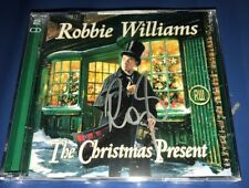 ROBBIE WILLIAMS SIGNED THE CHRISTMAS PRESENT ALBUM BUNDLE TAKE THAT & PROOF!
