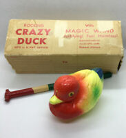 Vintage Rocking Crazy Duck Magic Wand Bath Toy Collectible