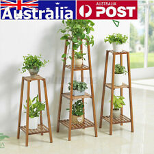 2/3/4 Tiers Flower Pot Stand Plant Wooden Shelf Plant Rack Garden Outdoor Indoor