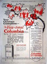 1926 'Viva-Tonal COLUMBIA' Gramophone Record Player Advert - Original Print AD