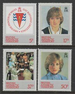 British Antarctic Territory 1982 Princess of Wales set of 4 Mint Unhinged