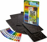 Crayola Airbrush Marker and Stencil Pack 04-8735 ~~FREE SHIPPING~~ KIDS TOY GIFT