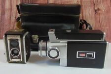2 Vintage Kodak Cameras Zoom 8 Reflex With Case and Duaflex IV with 4 camera