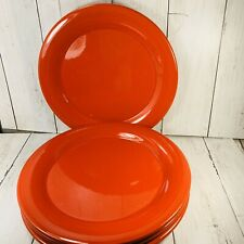 SET of 4 Waechtersbach  RED ORANGE Dinner PLATES  Made in Spain  10 Inches