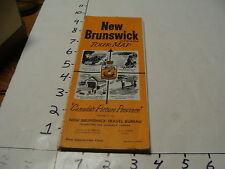 vintag travel paper--NEW BRUNSWICK CANADA Tour Map