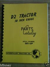Cat Caterpillar D2 Parts manual book dozer 5U 1 up New