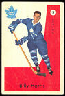 1959-60 PARKHURS HOCKEY #9 BILLY HARRIS VG-EX TORONTO MAPLE LEAFS CARD