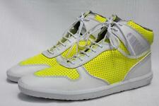 SCHMOOVE Men's Cup Mid Cut Yellow / White High Top Sneakers Shoes US 13 / 46 NEW