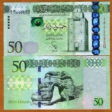 Libya, 50 Dinars, ND (2013), P-New, First Prefix, UNC