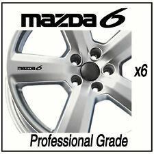 MAZDA 6  ALLOY WHEEL DECALS STICKERS CARS GRAPHICS  X6 Adhesive Graphic decals