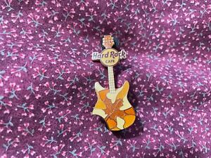 Hard Rock Cafe Pin Online Seasons Guitar Fall w Orange & Red Collage of Leaves