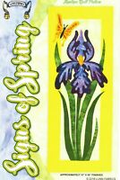 NEW UNCUT LUNN FABRICS SIGNS OF SPRING APPLIQUE QUILT PATTERN FLOWER BUTTERFLY