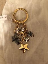 Coach Fireworks Multi Star Key Chain F63987 ALL STAR USA SYMBOL NWT