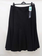 Calf Length Polyester Business Patternless Skirts for Women
