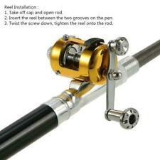 Fishing Rod Portable Mini Pocket Pen Shape Aluminum with Fish Pole Reel E5C4