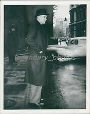 1957 Douglas Fairbanks Leaves Social Call Churchill Original News Service Photo
