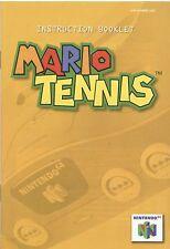 Nintendo 64 Mario Tennis Instruction Booklet Manual