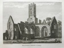 1793 ANTIQUE PRINT; Kilconnell Abbey, Co. Galway par Grose & bigari