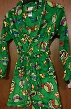 Teenage Mutant Ninja TURTLES Bathrobe Boy's size 14/16 NeW Soft Plush Bath Robe