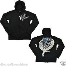 Metal Mulisha CRAZY ZIP FLEECE Black White Zip Up Junior's Hoodie Sweatshirt