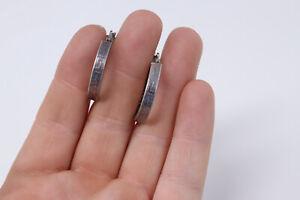 Very Interesting Vintage Sterling Silver 925 Aztec Design Hoop Earrings #270