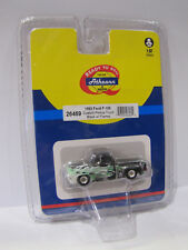 26469 ATHEARN 1955 FORD f-100 Custom Pickup Camion Black W/Flames - 1:87