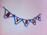 Handmade PERSONALISED name bunting for childrens kids babys nursery bedroom