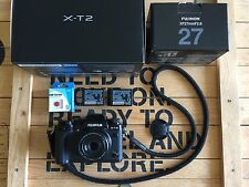 Fujifilm X-T2 Camera + Fuji XF 27mm + Extra Battery + 2 x 32GB SD UHS ii + Strap