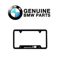 "For Genuine For BMW ""Powered by M"" Carbon Fiber License Plate Frame Black- One"