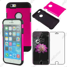 """Coque Housse Etui Armor Policarbonate Mesh Rose Apple iPhone 6 4,7"""" Verre"""