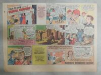 Nabisco Cereal Ad: School Leaders ! Shredded Wheat 1940's Size: 7 x 10 inches
