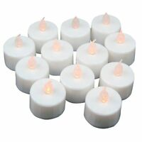 12 pcs LED Tea Lights Battery Operated Candles for Party Decoration CT