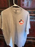 Walt Disney World Annual Passholder Grey/Gray Chef Mickey Mouse Shirt Size XL