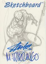 1998 Marvel - Skybox The Silver Age - Autograph Sketchboard  Stan Lee & Wieringo
