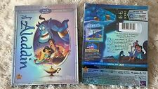 Aladdin Blu-ray/DVD, 2015, 2-Disc Set, Diamond Edition, Like New, Free Shipping