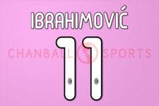 Ibrahimovic #11 2011-2012 AC Milan Homekit Nameset Printing