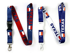 2 Texas Flag Reversible Neck Strap Lanyard Detachable Keychain for ID Keys Badge