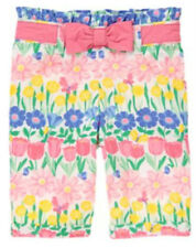 Gymboree ALL RUFFLED UP floral print bow pants size 12-18 months NWT