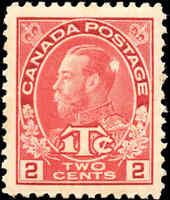 Canada 1916 Mint NH VF Scott #MR3 2c+1c War Tax Stamp