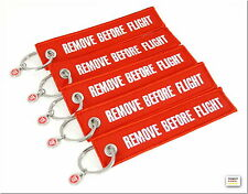 "REMOVE BEFORE FLIGHT - 5er - "" BIG PACK "" der kultigen roten Schlüsselanhänger"