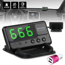 Universal Head Up Display Car GPS Speedometer HUD Overspeed Alarm MPH/ KM/H Plug