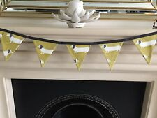 SAUSAGE DOG DACHSHUND BUNTING YELLOW OCHRE 10 FLAGS 12CM X 15CM 12//06.//