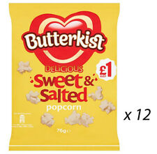 BUTTERKIST DELICIOUS SWEET & SALTED POPCORN 76g x 12 BAG'S PARTY 244735