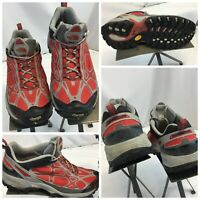 North Face Hiking Shoes Sz 7.5 Women Red Vibram Soles EUC YGI K9S-94