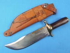 RARE Vintage  Custom Handmade Rudy RUANA Signed Model 37 C Huge Bowie Knife