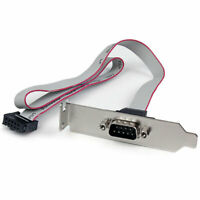 StarTech.com 1 Port 16in DB9 Serial Port Bracket to 10 Pin Header Low Profile 1