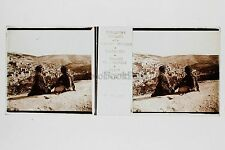 Vallée de Josaphat Siloë Empire Ottoman Plaque stéréo Vérascope Richard Vintage
