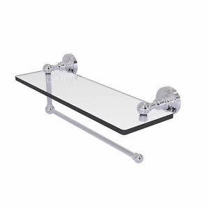 Dottingham Collection Paper Towel Holder with 16 Inch Glass Shelf - DT-1PT/16-PC